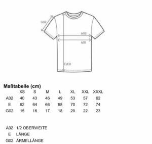 Größentabelle T-Shirt Frauen