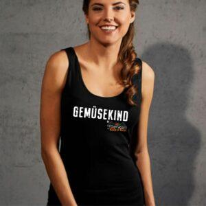 Gemuesekind_Logo_Damen_Tanktop_schwarz