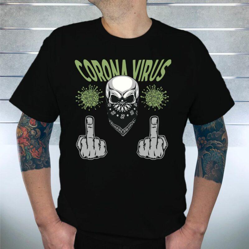 Corona Fuckfinger Skull