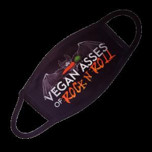 Logo von Vegan Asses of Rock & Roll - Gesichtsmaske