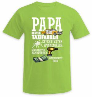 Papa bester Taxifahrer, effektivster Spinnenjäger, günstigster Handwerker und großzügigste Bank